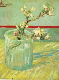 Рисуем картину Ван Гога «Ветка миндаля в стакане»
