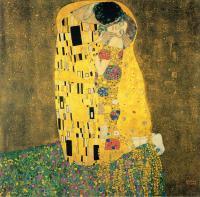 Рисуем картину Густава Климта «Поцелуй»