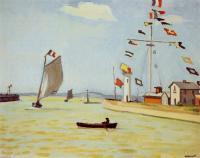 Рисуем картину Альбера Марке «Порт в Онфлере»