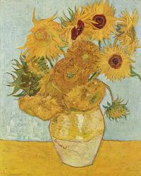 Рисуем картину Винсента ван Гога «Ваза с двенадцатью подсолнухами»