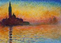 Рисуем картину Клода Моне «Закат в Венеции»