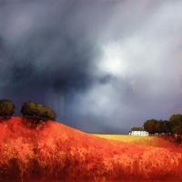 Рисуем картину Барри Хилтона «Земляничное поле»