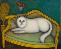 Рисуем картину Морриса Хиршфилда «Ангорская кошка»