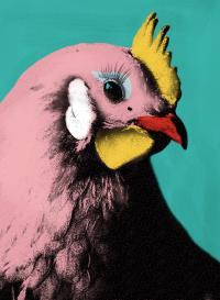 Рисуем поп-арт работу Chicken Glam