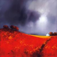 Рисуем пейзаж Барри Хилтона «Земляничное поле»
