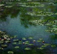 Рисуем «Водяные лилии» Клода Моне