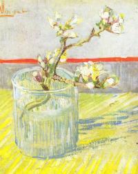 Рисуем «Ветка миндаля в стакане» Винсента Ван Гога