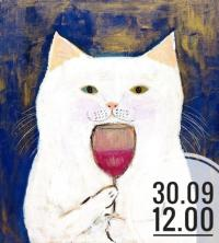 Рисуем работу «Радостный Кот» Пепе Шимада