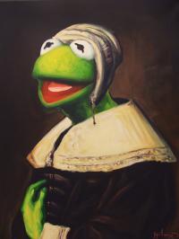 Рисуем работу «Лягушка» современная интерпретация
