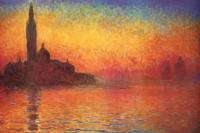 Рисуем  «Сумерки. Венеция» Клода Моне