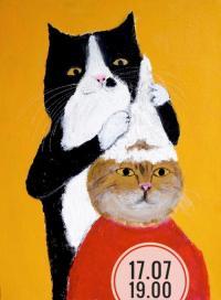 Рисуем работу Пепе Шимада «Котики»
